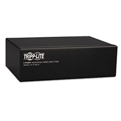 Tripp Lite Video Splitter, VGA/SVGA, Signal Booster, 350MHz, HD15 Ports