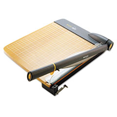 Westcott TrimAir Titanium Guillotine Paper Trimmer, Wood Base, 12