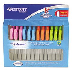 Westcott Kids Soft Handle Scissors with Microban Protection, 12/Pack, 5