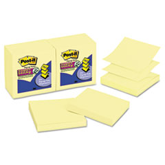 Post-it Pop-up Notes Super Sticky Super Sticky Pop-Up Refill, 3 x 3, Canary Yellow, 90/Pad, 12 Pads/Pack