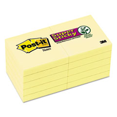 Post-it Notes Super Sticky Super Sticky Notes, 2 x 2, Canary Yellow, 10 90-Sheet Pads/Pack