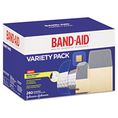 BAND-AID Sheer/Wet Adhesive Bandages, Assorted Sizes, 280/Box