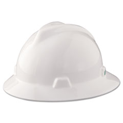 MSA V-Gard Hard Hats, Staz-On Pin-Lock Suspension, Size 6 1/2 - 8, White