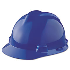 MSA V-Gard Hard Hats, Staz-On Pin-Lock Suspension, Size 6 1/2 - 8, Blue