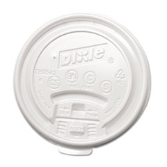 Dixie Plastic Lids for Hot Drink Cups, 12 & 16 oz., White, 1000/Carton