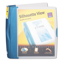 Avery Silhouette Poly View Binder w/Inside Pocket, 1-1/2