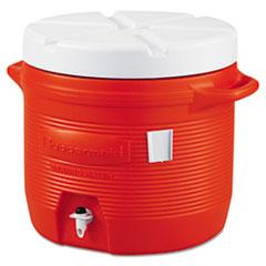 Rubbermaid® COOLER 7G WTR ORE #1655 PLASTIC WATER COOLER, 7 GAL, ORANGE