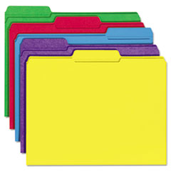 Universal File Folders, 1/3 Cut Double-Ply Top Tab, Letter, Assorted Colors, 100/Box