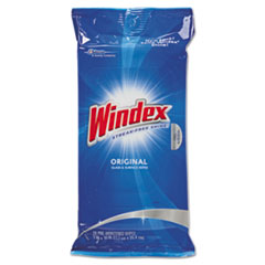 Glass &amp; Surface Wet Wipe, Cloth, 7 x 10, 28/Pack