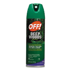 OFF! Deep Woods Aerosol Insect Repellent, 6-oz Can, 12 Cans/Carton