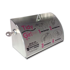 Stout Tidy Girl Stainless Steel Feminine Hygiene Disposal Bag Dispenser