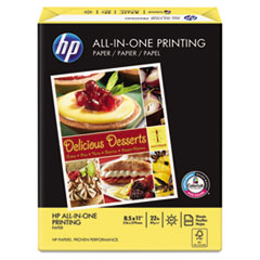 HP All-In-One Printing Paper, 97 Brightness, 22lb, 8-1/2 x 11, White, 500 Sht/Ream