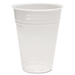 Boardwalk® CUP PLAS 9OZ 100-PK TR TRANSLUCENT PLASTIC COLD CUPS, 9OZ, POLYPROPYLENE, 100-PACK