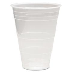 Boardwalk® CUP PLAS 16OZ 50-PK TR TRANSLUCENT PLASTIC COLD CUPS, 16OZ, POLYPROPYLENE, 50-PACK
