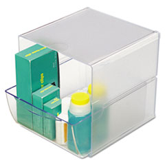 deflect-o Desk Cube with Drawer, Clear, 7-1/8 x 6 x 6