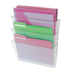 Universal 3 Pocket Wall File Starter Set, Letter, Clear