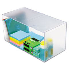 deflecto Desk Cube, Double Cube, 12 x 6 x 6