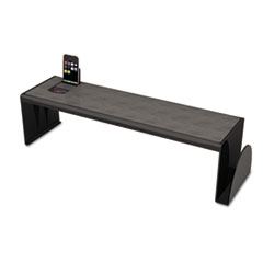 Universal Heavy Duty Plastic Shelf, 25 5/8 x 7 x 6 3/4, Black