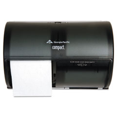 Georgia Pacific Professional Coreless Double Roll Tissue Dispenser, 10 1/8 x 6 3/4 x 7 1/8, Smoke/Gray