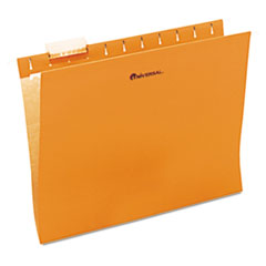 Universal One Hanging File Folder, 1/5 Tab, Letter, Orange, 25/BX