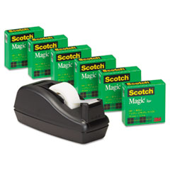 Scotch Magic Tape w/Black Dispenser, 1