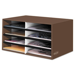 Bankers Box Decorative Eight Compartment Literature Sorter, Letter Size, Mocha Brown