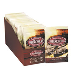 PapaNicholas Coffee Premium Hot Cocoa, Chocolate Peppermint, 24/Carton