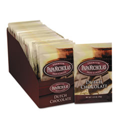 PapaNicholas Coffee Premium Hot Cocoa, Dutch Chocolate, 24/Carton