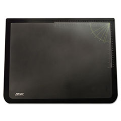 Artistic Logo Pad Desktop Organizer with Clear Overlay, 31 x 20, Black
