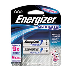 Energizer Lithium Batteries, AA, 2 Batteries/Pack