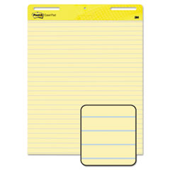Self-Stick Easel Pad, Ruled, 25 x 30, Yellow, 2 30-Sheet Pads/Carton