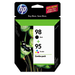 CB327FN (HP 95; HP 98) Ink Cartridge, 330 Page-Yield, 2/Pack, Black; Tri-Color