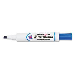 Marks-A-Lot Desk Style Dry Erase Marker, Chisel Tip, Blue, Dozen