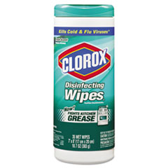 Clorox Disinfecting Wipes, 7 x 8, Fresh Scent, 35/Canister