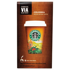 Starbucks VIA Ready Brew Coffee, 3/25oz, Colombia, 8/Box