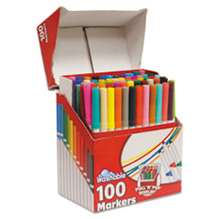 RoseArt Supertip Washable Markers, 100 Assorted Colors, 100/Set