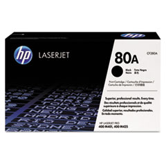CF280A, HP-80A, Toner, 2700 Page-Yield, Black