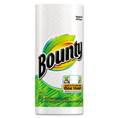 Bounty Perforated Paper Towels, 9 x 10 2/5, White, 48 Sheets/Roll, 30 Rolls/Carton