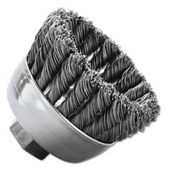 """Weiler® BRUSH .020SS 5-8-112 3-4"""" Sra-2 General-Duty Knot Wire Cup Brush, .020, Ss, 5-8-112, 3-4"""" Dia"""