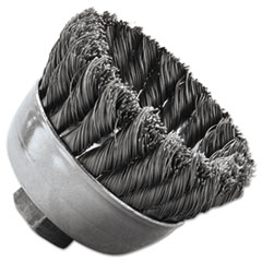 """Weiler® BRUSH 2.014 5-8-112 3-4"""" Sra-2 General-Duty Knot Wire Cup Brush, .014, 5-8-112, 3-4"""" Dia"""