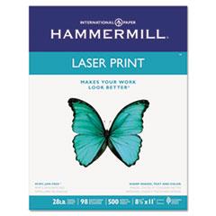 Hammermill Laser Print Office Paper, 98 Brightness, 28lb, 8-1/2 x 11, White, 500 Shts/Ream