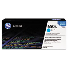 CE271A (HP 650A) Toner Cartridge, 15000 Page-Yield, Cyan