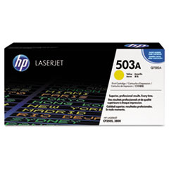 Q7582AG (HP 503A) Government Smart Toner Cartridge, 6000 Page-Yield, Yellow
