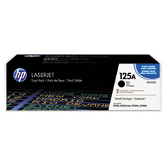 CB540AD (HP 125A) Toner Cartridge, 2,200 Page Yield, 2/Box, Black
