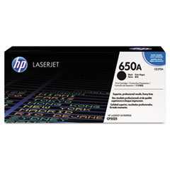 HP 650A (CE270A) Black Original LaserJet Toner Cartridge for Color LaserJet Enterprise CP5520 / M750