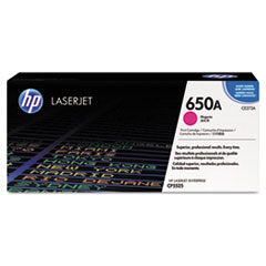 HP 650A (CE273A) Magenta Original LaserJet Toner Cartridge for Color LaserJet Enterprise CP5520 / M750