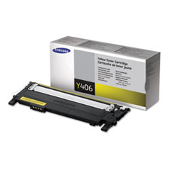 Samsung CLTY406S Toner, 1000 Page-Yield, Yellow
