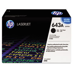 HP 643A, (Q5950AG) Black Original LaserJet Toner Cartridge for US Government