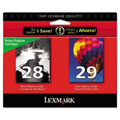 Lexmark 18C1590 Ink, Black; Tri-Color
