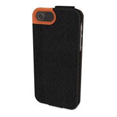 Kensington Portafolio Flip Wallet for iPhone 5, Black/Orange